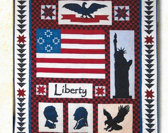 Quilt Pattern, Stand Tall, Appliqued and Pieced Quilt, Wall Hanging, Americana Decor, Patriotic Decor, ThimbleCreek Quilts, PATTERN ONLY
