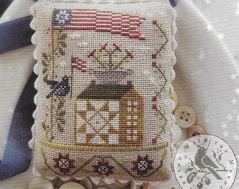 Counted Cross Stitch Pattern, Star Spangled Spectacular, Patriotic, Americana, American Flag, Blue Bird, Brenda Gervais, PATTERN ONLY