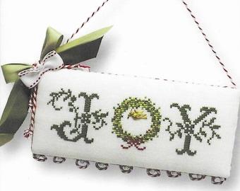 Counted Cross Stitch Pattern, Be Joyful, Christmas Wreath, Joy, Noel, Dove, Heart, Christmas Ornament, JBW Designs, PATTERN ONLY