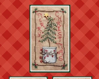 Counted Cross Stitch Pattern, Christmas Tree Trio, Christmas Decor, Christmas Tree, Inspirational, Waxing Moon Designs, PATTERN ONLY