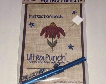 Ultra Punch, Ultra Punchneedle, Ultra Punch Needle, Embroidery, Surgical Steel Needles, Punch Needle Embroidery, Threaders