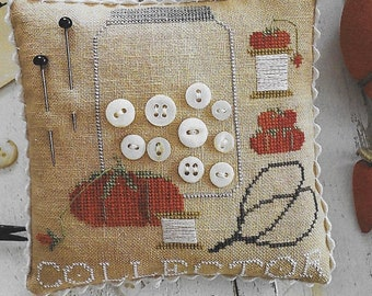 Counted Cross Stitch Pattern, I Collect, Pincushions, Cross Stitch, Tomato Pincushion, Sewing Accessory, Brenda Gervais, PATTERN ONLY