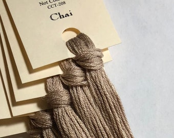 Classic Colorworks, Chai, CCT-208, 5 YARD Skein, Hand Dyed Cotton, Embroidery Floss, Counted Cross Stitch, Embroidery Thread