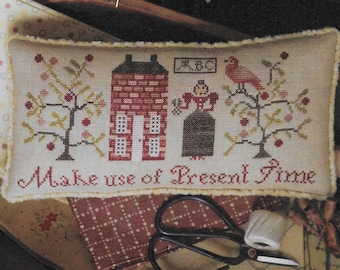 Counted Cross Stitch Pattern, Serial Bowl Collection, Lesson One, Sampler Lessons, Primitive Decor, Plum Street Samplers, PATTERN ONLY