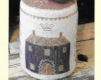 Counted Cross Stitch Pattern, Dark Horse, Colonial Style Pinkeep, Pin Cushion, Strawberry, Pinkeep Drum, Sewing, Stacy Nash, PATTERN ONLY