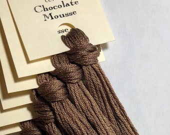 Classic Colorworks, Chocolate Mousse, CCT-262, 5 YARD Skein, Hand Dyed Cotton, Embroidery Floss, Cross Stitch, Hand Embroidery Thread