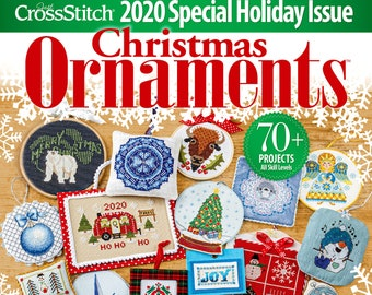 Magazine, Just Cross Stitch, Christmas 2020, Counted Cross Stitch, Cross Stitch, Christmas, Holiday Decor, Christmas Ornaments