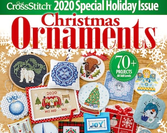 PRE-Order, Magazine, Just Cross Stitch, Christmas 2020, Counted Cross Stitch, Cross Stitch, Christmas, Holiday Decor, Christmas Ornaments