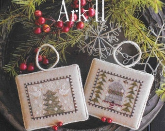 Counted Cross Stitch Pattern, Noah's Christmas Ark, Doves Ornament, Honeybees Ornament, Christmas Decor, Plum Street Samplers, PATTERN ONLY