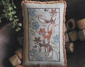 Counted Cross Stitch Pattern, Fox Few, Animal, Summer Fox, Cross Stitch Fox, Nature Decor, Woodland, Plum Street Sampler, PATTERN ONLY