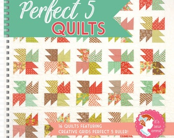 Softcover Book, Perfect 5 Quilts, Quilt Patterns, Charm Quilts, Home Decor, Quilts, Seasonal Quilts, Mini Quilts, It's Sew Emma
