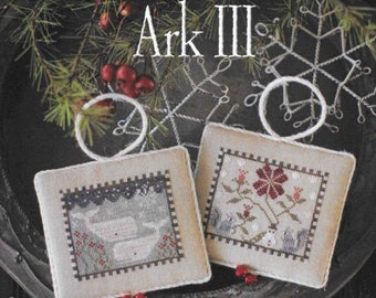 Counted Cross Stitch Pattern, Noah's Christmas Ark, Whales Ornament, Squirrels Ornament, Christmas Decor, Plum Street Sampler, PATTERN ONLY
