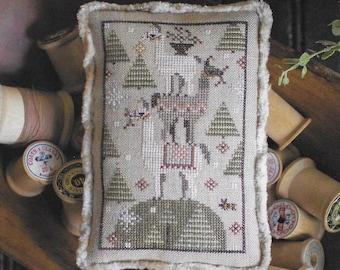 Counted Cross Stitch Pattern, Llama Lump, Farm Animal, Holiday Llamas, Cross Stitch Llama, Barn Animal, Plum Street Sampler, PATTERN ONLY