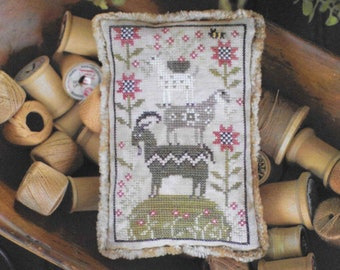 Counted Cross Stitch Pattern, Goat Load, Farm Animal, Spring Goats, Cross Stitch Goats, Goat, Barn Animal, Plum Street Sampler, PATTERN ONLY