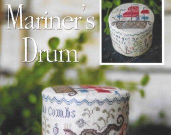 Counted Cross Stitch Pattern, Mariner's Drum, Summer Decor, Patriotic Decor, Americana, Primitive Decor, Plum Street Samplers, PATTERN ONLY