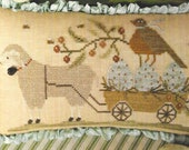 Counted Cross Stitch Pattern, Welcome Spring, Spring Sheep, Robins Nest, Cross Stitch Pillow, Spring Decor, Brenda Gervais, PATTERN ONLY