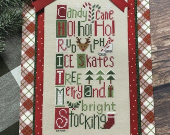 Counted Cross Stitch, Christmas Letters, Christmas Decor, Reindeer, Stocking, Lindsey Weight, Primrose Cottage Stitches