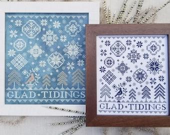 Counted Cross Stitch, Quaker Snowflakes, Winter Decor, Winter Snowflakes, Glad Tidings, Quaker Motifs, Liz Mathews, PATTERN ONLY