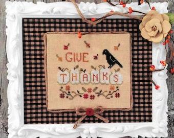 Counted Cross Stitch, Thankful Pumpkins, White Pumpkins, Black Crow, Fall Decor, Harvest, Farmhouse Decor, Annie Beez Folk Art, PATTERN ONLY