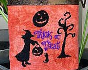 Counted Cross Stitch Pattern, Trick or Treat, Halloween Decor, Jack O lantern, Black Cat, Witch, Tree,  Keslyn's, PATTERN ONLY