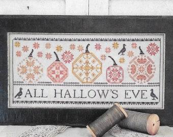 Counted Cross Stitch, Quaker Pumpkins, Sampler, Fall Decor, Halloween Pumpkins, Pumpkin Motifs, Quaker Motifs, Liz Mathews, PATTERN ONLY