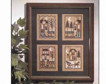 Counted Cross Stitch, The Four Seasons, Cross Stitch Patterns, Winter, Spring, Summer, Fall, Primitive, The Prairie Schooler,  PATTERN ONLY