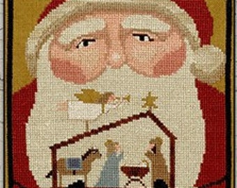 Counted Cross Stitch Pattern, Hope for the World, Christmas Decor, Santa, Nativity, Primitive Decor, Teresa Kogut, PATTERN ONLY