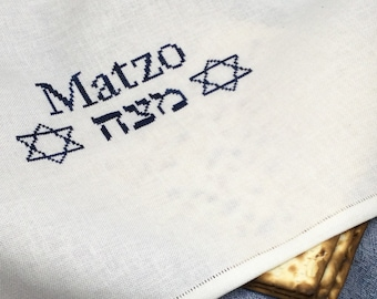 Counted Cross Stitch Pattern, Matzo Cover for Passover, Matzah Cover, Matzo Napkin, Arlene Cohen, Works by ABC, PATTERN ONLY