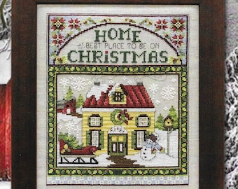 Counted Cross Stitch Pattern, Christmas Home, Christmas Trees, Poinsettias, Snowman, Sleigh, Christmas Decor, Stoney Creek, PATTERN ONLY