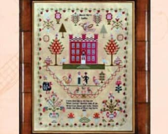 Counted Cross Stitch Pattern, Harriot Hey 1809, Reproduction Sampler, Georgian, Country Rustic, Mill on the Floss Samplers, PATTERN ONLY