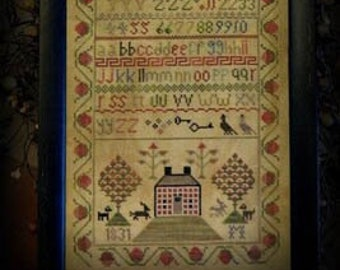 Counted Cross Stitch Pattern, 1831 Brick House, Cross Stitch Sampler, Reproduction Sampler, Antique Reproduction, Tree of Life, Pattern ONLY