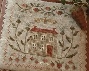 Counted Cross Stitch Pattern, Berry Days at Thistle Down Farm, Sewing Box, Needle Booklet, Strawberries, Brenda Gervais, PATTERN ONLY