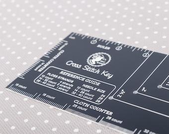 Cross Stitch Key, Cross Stitch Reference, Reference Guide, Cloth Counter, Corner Guide, Cross Stitch Ruler, It's Sew Emma