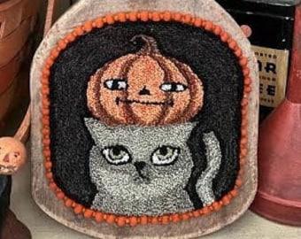 Punch Needle Pattern, Snickers & Pickle, Folk Art Decor, Primitive Decor, Teresa Kogut, Punch Needle Embroidery, PATTERN ONLY