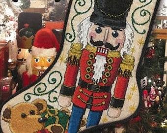 Counted Cross Stitch Pattern, Toy Soldier Stocking, Christmas Stocking, Nutcracker, Teddy Bear, Christmas Decor, Stoney Creek, PATTERN ONLY
