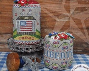 Counted Cross Stitch, Liberty Hill Farm, American Flag, Flag, Patriotic Decor, Americana, Summer House Stitche Workes, PATTERN ONLY