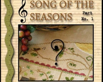 Pre-Order, MYSTERY Sampler, Song of the Seasons, Counted Cross Stitch, Cross Stitch Sampler, Little House Needleworks, PATTERN ONLY