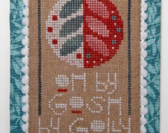 Counted Cross Stitch Pattern, Oh By Gosh, Holiday, Christmas Decor, Christmas Ornament, Ornament, Heart in Hand, PATTERN ONLY