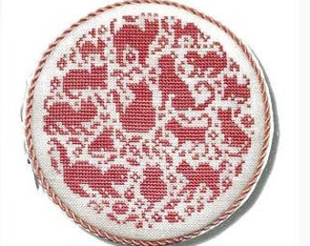 Counted Cross Stitch Pattern, Kitties in the Round, Sweet Nothings, Cat Ornament, Kitties, Christmas Ornament, JBW Designs, PATTERN ONLY