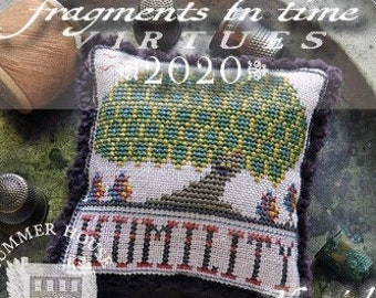 Counted Cross Stitch Pattern, Fragments in Time 2020, No 8 Humility, Virtues Series, Owl, Tree, Summer House Stitches Workes, PATTERN ONLY