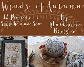Softcover Book, Winds of Autumn, Autumn Decor, Pumpkins, French Country, Primitive Decor, Rustic Decor, Home Decor, Blackbird Designs