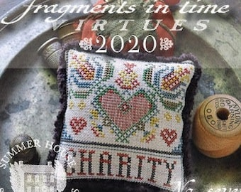 Counted Cross Stitch Pattern, Fragments in Time 2020, No 7 Charity, Virtues Series, Heart, Summer House Stitches Workes, PATTERN ONLY