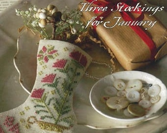 Counted Cross Stitch Pattern, By the Chimney With Care, Christmas Stockings, Stocking Ornaments, New Year, Blackbird Designs, PATTERN ONLY
