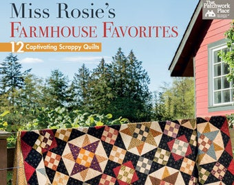 Softcover Book, Miss Rosie's Farmhouse Favorites, Quilt Patterns, Quilts, Table Runners, Scrap Quilts, Home Decor, Quilts, Carrie Nelson