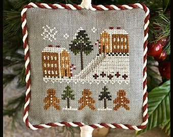 Counted Cross Stitch Pattern, Gingerbread Village, Christmas Decor, Gingerbread Ornament, Ornament, Little House Needleworks, PATTERN ONLY