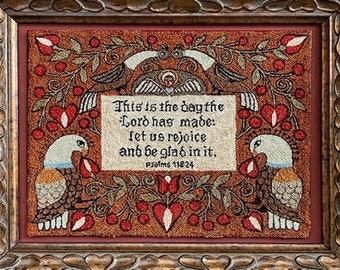 PRE-Order, Punch Needle Pattern, This is the Day, Scripture, Inspirational, Religious, Teresa Kogut, Punch Needle Embroidery, PATTERN ONLY