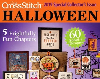Magazine, Just Cross Stitch, Halloween 2019, Counted Cross Stitch, Cross Stitch, Halloween, Autumn Decor, Fall Decor, Primitive Decor