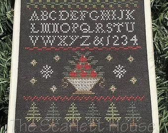 Counted Cross Stitch Pattern, Holiday Berries, Christmas Decor, Christmas Ornament, Holiday Decor, The Scarlett House, PATTERN ONLY