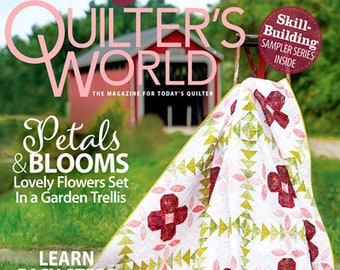Magazine, Quilter's World, Spring 2021, Spring Decor, Floral Quilts, Butterflies, Scrap Quilt, Strip Quilts, Star Quilts, Quilt Magazine
