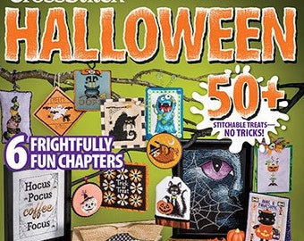 PRE-Order, Magazine, Just Cross Stitch, Halloween 2021, Collector's Issue, Halloween Ornaments, Black Cat, Ghost, Goblins, Pumpkins, Witches